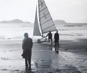 Billy Huggard brings Charlie Chaplin Sand yachting in Ballinskelligs